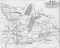 Map of General J.H. Wilson's Calvary Campaign.