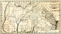 """""""Georgia from the Latest Authorities."""" W. Barker, sculp. Engraved for Mathew Carey's American edition of Guthrie's Geography, 1795."""