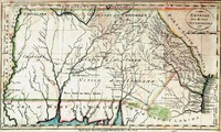 """""""Georgia from the Latest Authorities."""" Engraved by John Scoles. New York: I. Low, 1799. From John Payne's Universal Geography."""