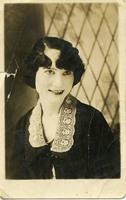Woman on Postcard