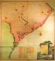 """""""A Map of South Carolina and a Part of Georgia . . . the Author William De Brahm, Surveyor General to the Province of South Carolina, one of the Surveyors of Georgia . . . 1757."""""""