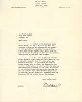 Letter from M. S. Hill to Frank Dowler