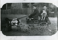 Two Boys on a Goat Cart