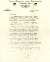 Letter from the office of Harold B. Franklin (Paramount Pictures) to J. Wright Brown