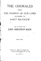 The Chorales from The Passion of Our Lord According to Saint Matthew - J.S. Bach.pdf