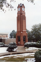 Clock Tower in the Snow