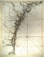Unidentified survey of the Georgia coast from the mouth of the St. Johns River in Florida to the Stono River in S.C., post-1763.