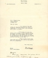 Letter from M. S. Hill to J. Wright Brown