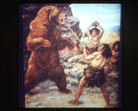 Cave men and bear