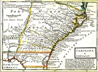 Carolina by Herman Moll, geographer. 1729.