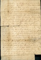 Letter from Fuller to his Mother and Father, Staunton, Virginia General Hospital, October 25, 1862